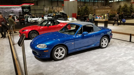 Miatas at 2019 Chicago Auto Show